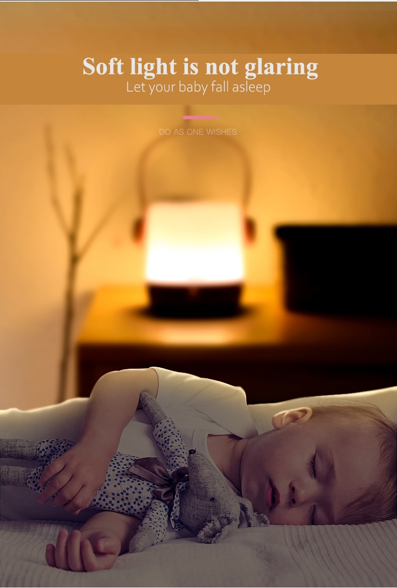 Panasonic Body Sensor Night Light USB Rechargeable Table  Lamp Children Bedroom Bedside Baby Nursing Lamp Kids Lactation Lamp enlarge