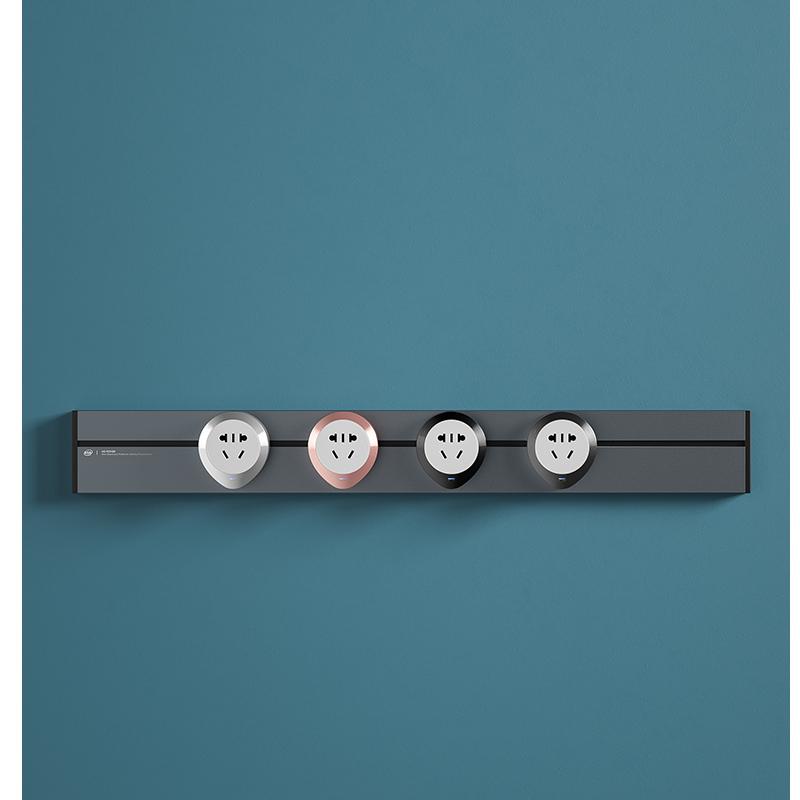مسار طاقة مدمج بالحائط 75 سنتيمتر ، 4 مقابس ، محولات عالمية CN UK ، أسود ، رمادي ، فضي ، شمبانيا