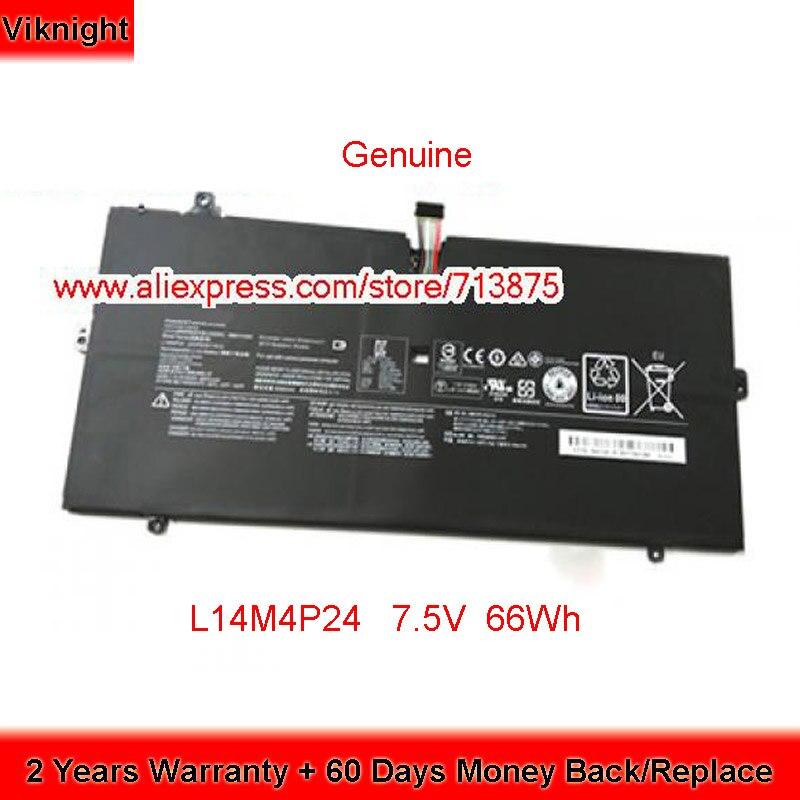 Bateria genuína 7.5 v 66wh l14m4p24 para lenovo yoga 4 pro 900 900-13isk series
