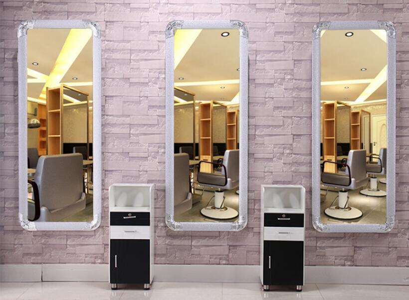 Парикмахерский стол, зеркало для парикмахерской, зеркало для парикмахерской, напольное зеркало с одной боковой рамкой, туалетный столик, по...