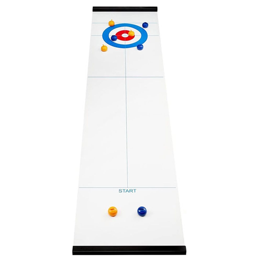 Mesa plegable portátil Mini Bola de fiesta de viaje de interior juego de rizador de mesa interactivo para padres e hijos para la familia de Deportes de juguete