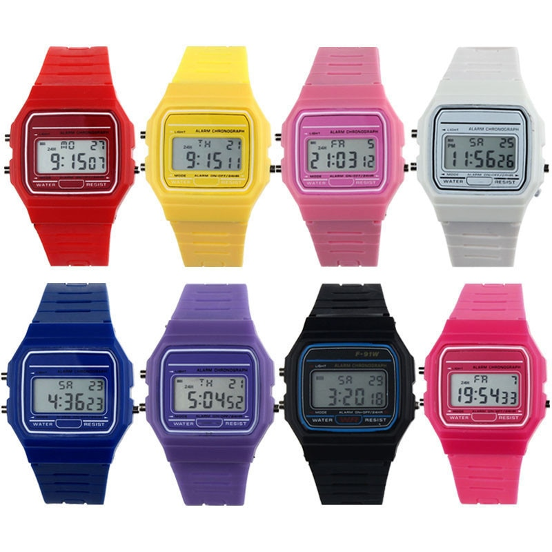 New Silicone Rubber Strap Retro Vintage Digital Watch Boys Girls Mens Relojes Hombre Vintage Relogio