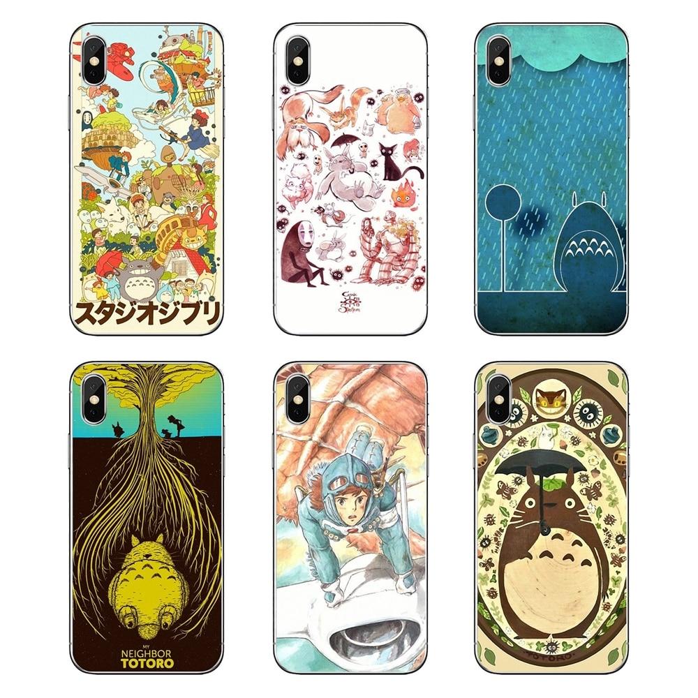 Studio Ghibli Ghiblies totoro para Samsung Galaxy Note 8 9 S9 S10 A8 A9 Star Lite Plus A6S A9S suave transparente Shell cubre