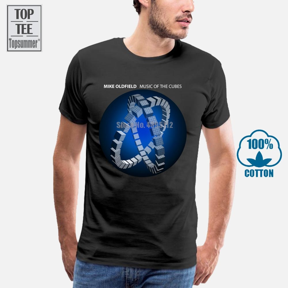Camiseta negra para hombre con campanas tubulares de Mike Oldfield, talla S,...