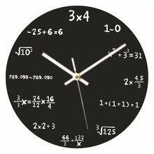 Neue Kreative Mathematic Wanduhr 30cm Große Math Formeln Uhr Hängen Uhr Schwarz für Home Schlafzimmer Dekorative Ornament