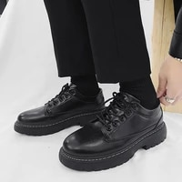 mens calfskin casual comfortable hong kong style low cut youth shoes 2021 new business casual mens shoes man shoes