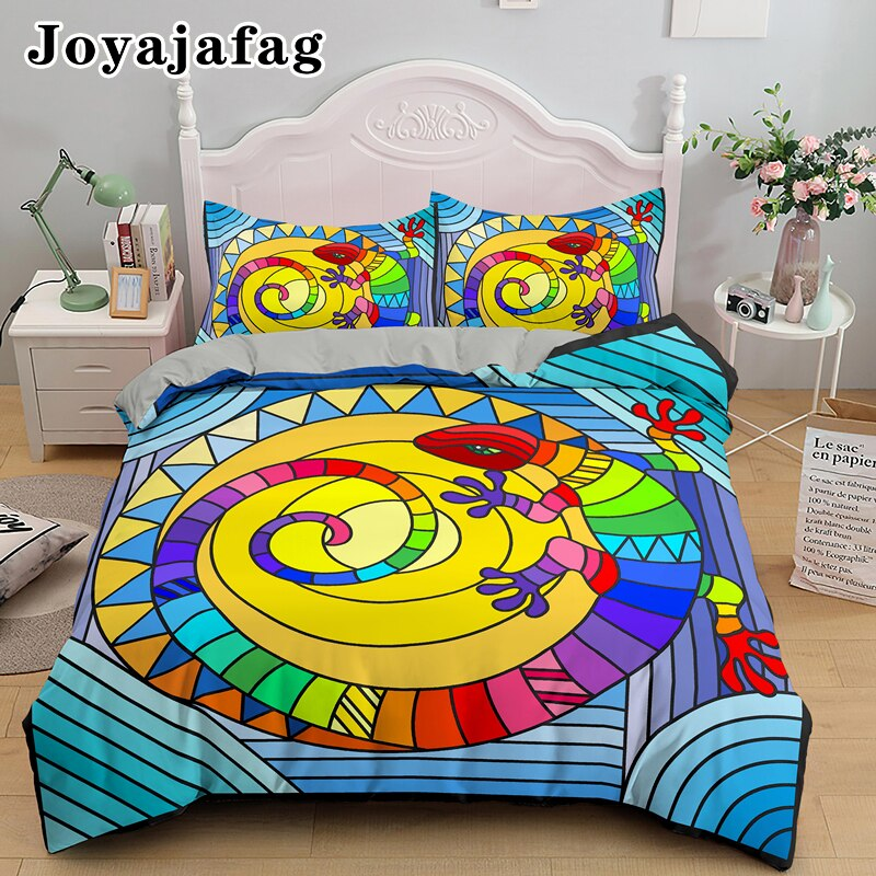 Multicolored Glass Shards Bedding Set Single Double King Queen Size Comforter Cover With Pillowcase Soft Fabric Duvet Covers