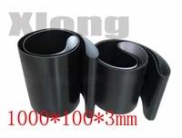 1000mm x 100mm x 3mm black color industrial transmission line belt conveyor pvc belt