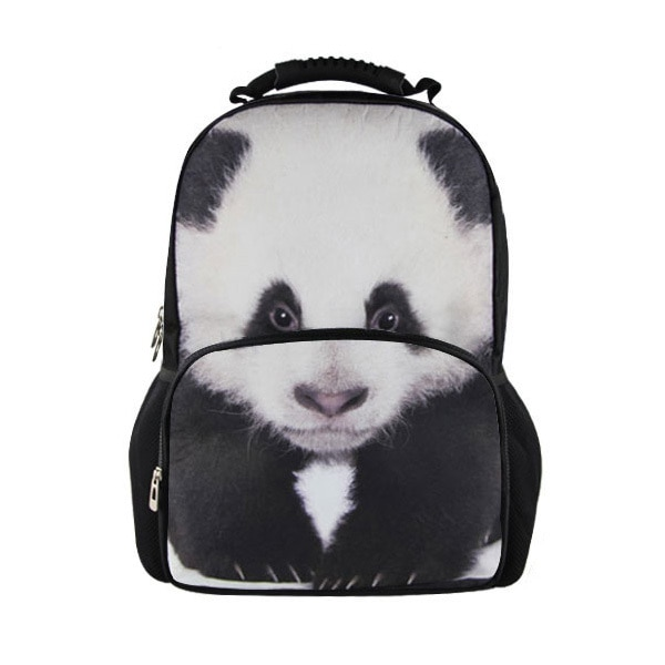 Mochila para as Mulheres Bolsa de Livro Personalizado Panda Forma Bonito Meninas Escola Mochila Feminino Estilo Coreano Faculdade Estudante Varejo 3d
