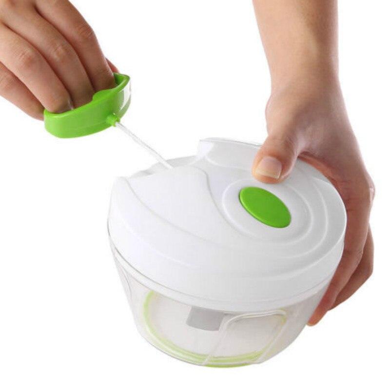 Cortador de cortador de fatiador de legumes de mão multi-função poderoso manual puxando chopper de alimentos