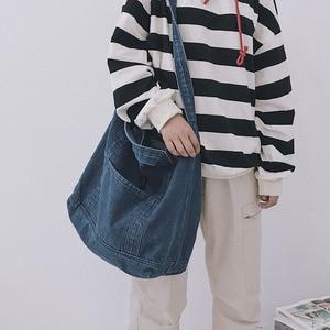 Denim Bag Large Capacity One Shoulder Messenger Bag Fashion Handbag Women's Bag