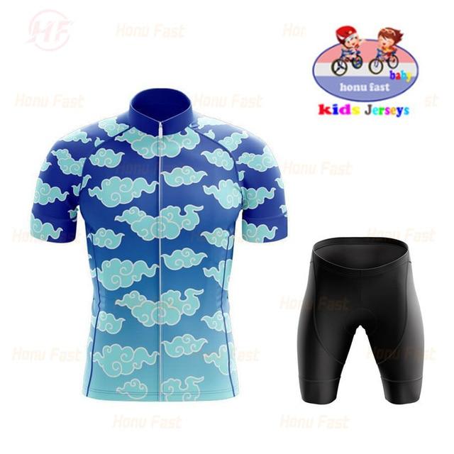 Equipe das Crianças Calções de Verão das Crianças Esportes ao ar Manga Curta Ciclismo Wear Conjunto Meninos Mountain Bike Livre 2022 Pro