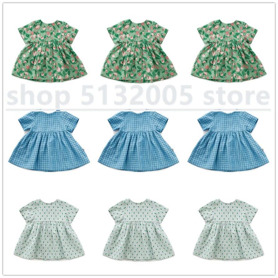 В наличии, новое платье для девочек, лето 2020, детское хлопковое платье принцессы, одинаковое детское платье