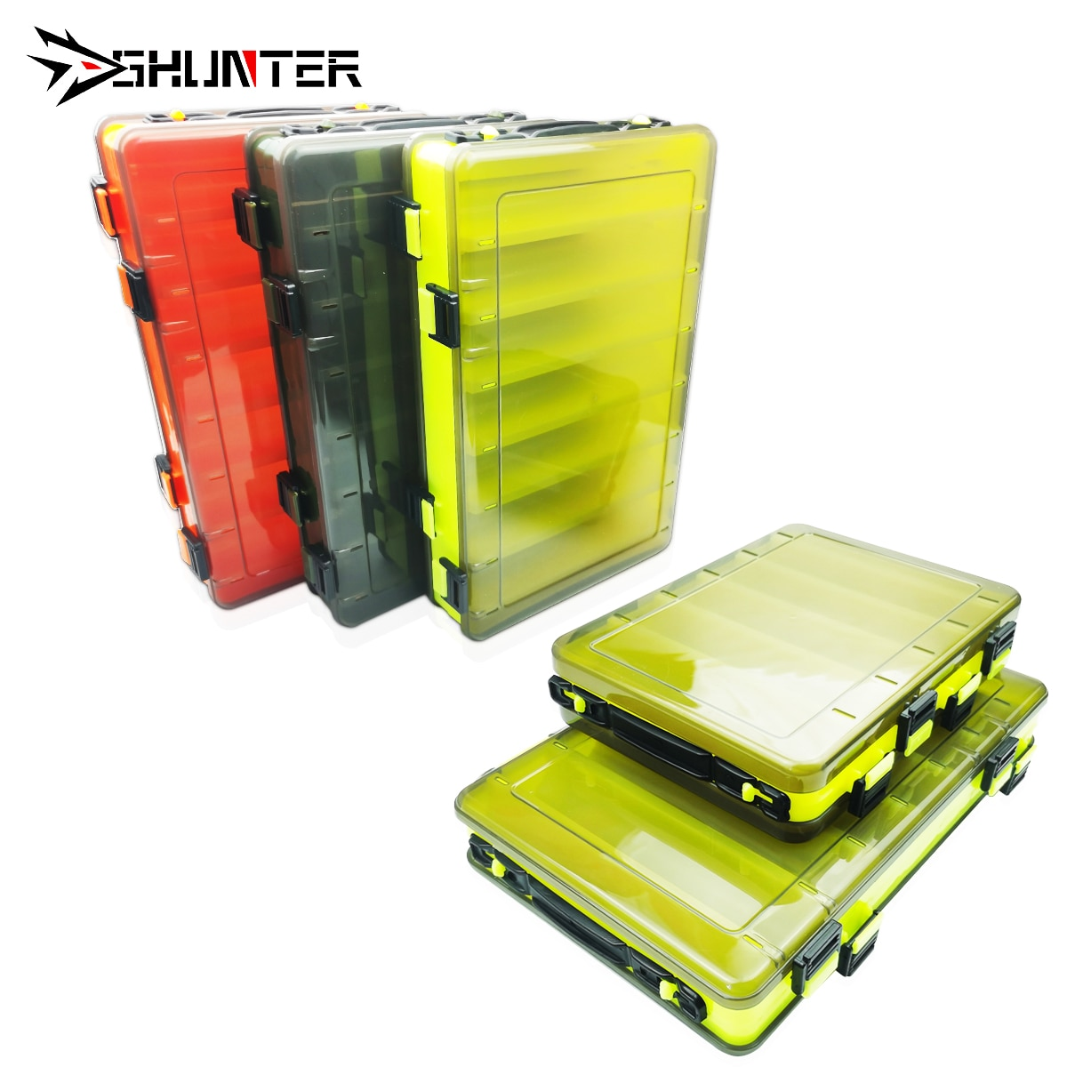 Professional Fishing Tackle Box Double-decker fishing lure tackle box Hook Boxes Portable Bait Fishing Gear Storage Box