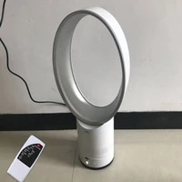 16 inch portable quiet bladeless floor standing fan no blade air fan low noise romote controled electric fan