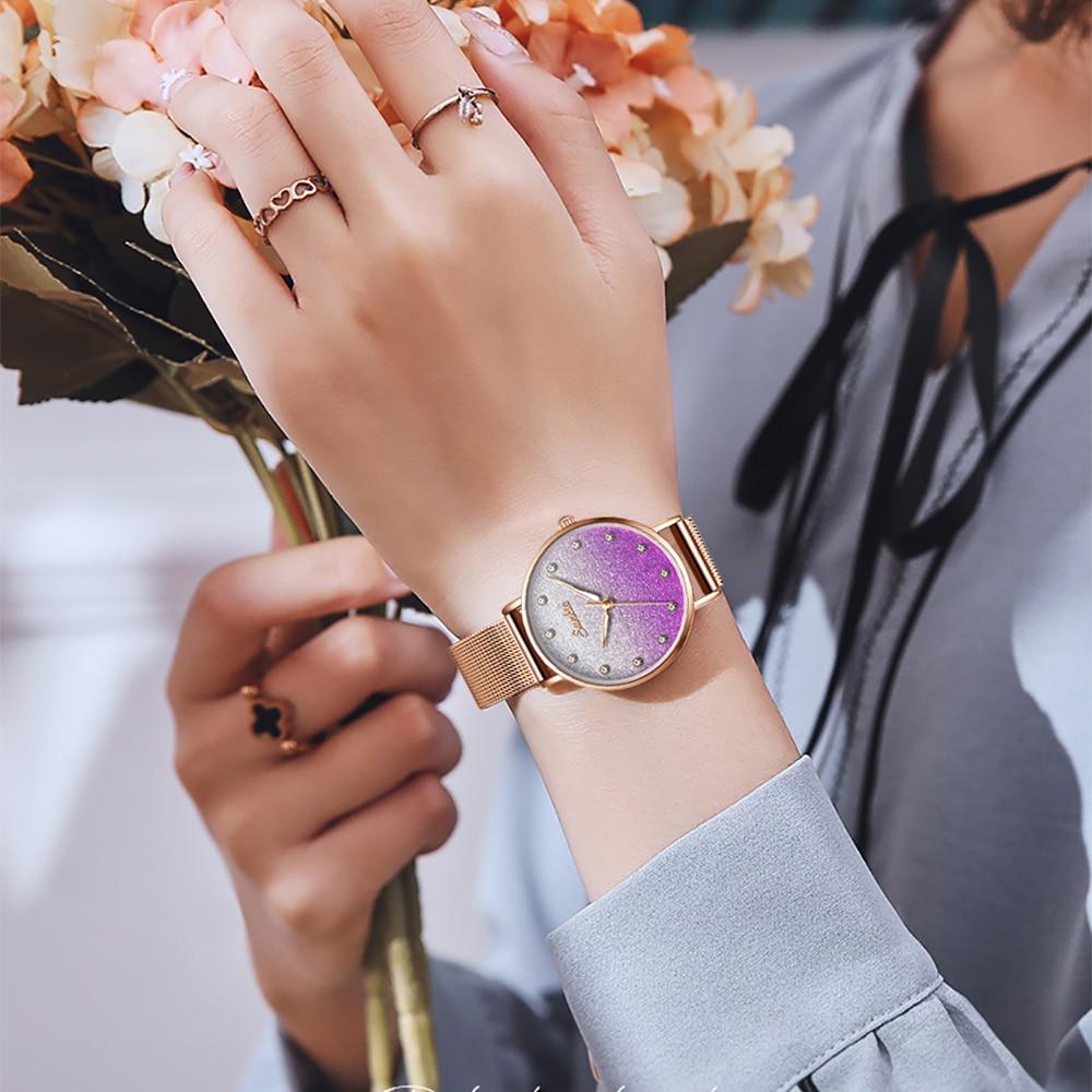 sunkta New Creative Women Watches Luxury Rosegold Quartz Ladies Watches Relogio Feminino Mesh Band Wristwatches Reloj Mujer enlarge