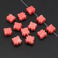 10pcs pink coral beads fukugata artificial coral stone beads accessories for making diy jewelry necklace bracelet best blessing