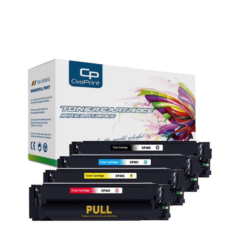 Civoprint-خرطوشة حبر طابعة hp ، متوافقة مع CF400A ، CF401A ، CF 400 ، 201A ، LaserJet Pro ، M252dw ، M252n ، MFP ، M277dw