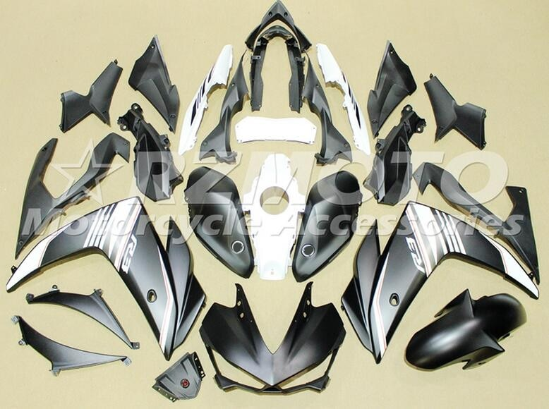 4Gifts 2014 2015 2016 YZF R3 R25 ABS Injection Fairing Kit For Yamaha YZFR3 YZFR25 Complete Fairings Kit Cowling black Matte