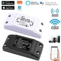 Tuya telecommande intelligente WIFI   433MHZ controleur APP commutateur a distance sans fil Compatible avec Alexa Google Home maison intelligente