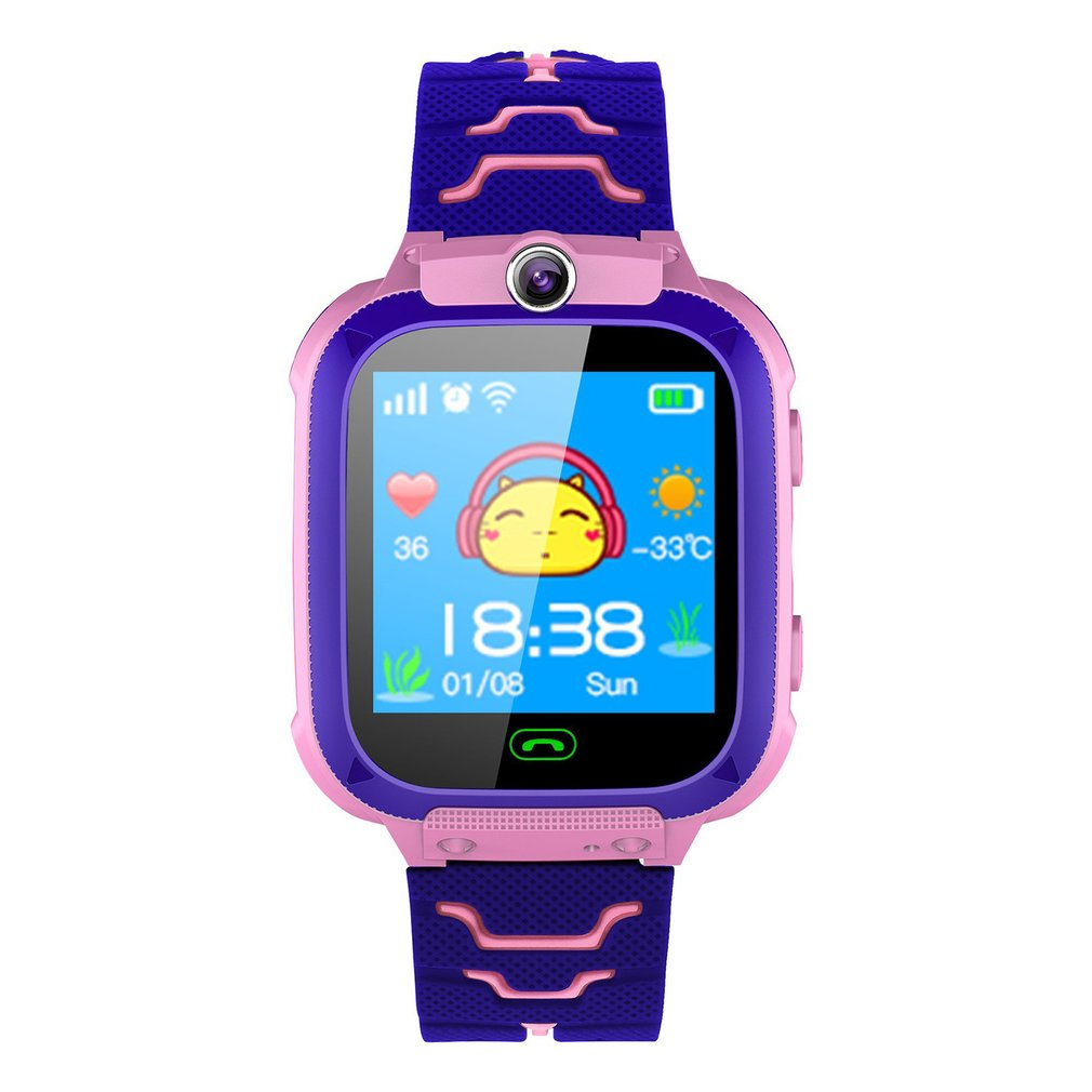 New Q12 Smart Watch Multifunction Children Digital Wristwatch Baby Watch Phone For IOS Android Kids Toy Gift Children Colour