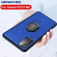 for redmi note 10 9 pro for xiaomi mi 11 10t pocophone poco m3 x3 nfc case cloth pattern car magnetic ring shockproof back cover
