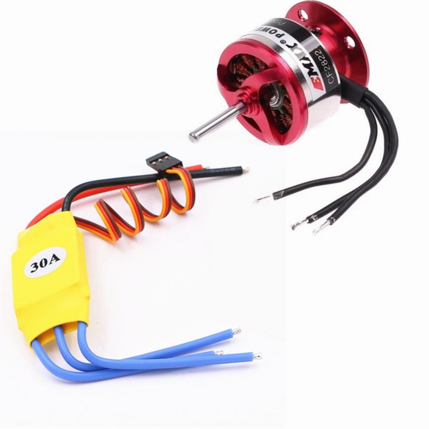 Motor sin escobillas Emax 1200kv CF2822 + 30A controlador de velocidad ESC sin escobillas para multicóptero Quadcopter RC drone parte