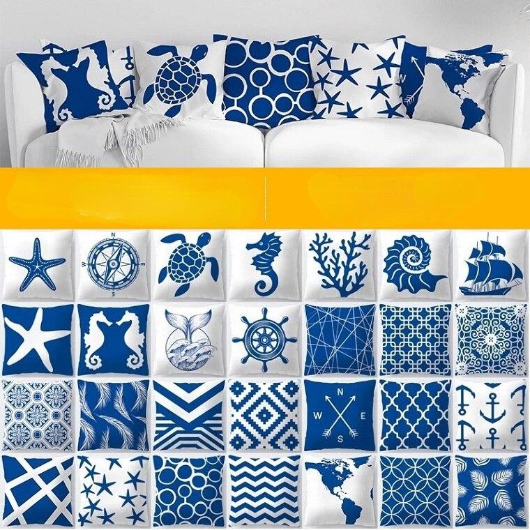 Наволочка для подушки, диваны, подушки, предметы домашнего обихода, персиковый; Кожа, вельвет, льняные наволочки, синие декоративные подушки...