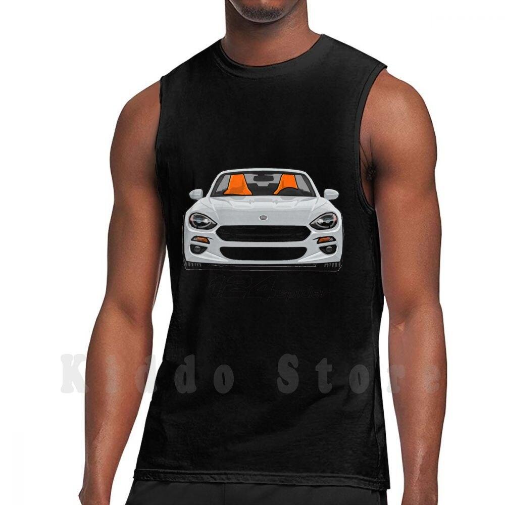 Fiat-Camiseta sin mangas blanca de araña para 100%, chaleco de algodón para...