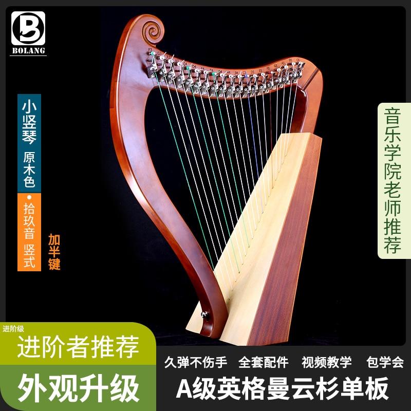 19 Strings Big Harp Musical Instrument Music Wooden Harp Profesional Half Key Instrumentos Musicales String Instruments EI50HP enlarge