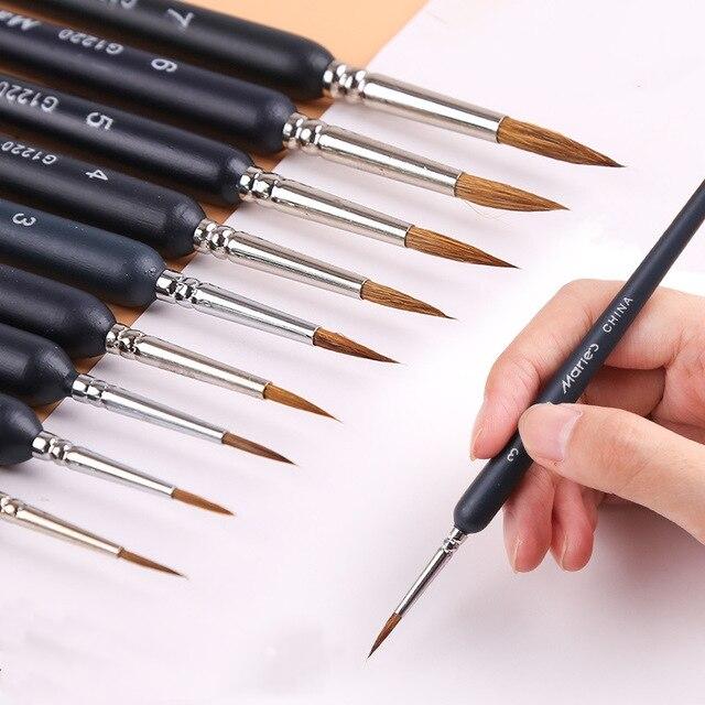 Круглый острый наконечник Волчья щетка для волос детальной художественной
