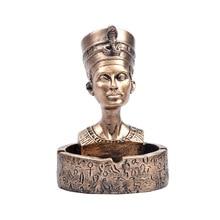 Cenicero de Cleopatra de Egipto, Cenicero de moda para oficina, Cenicero Retro antiguo de resina de Cenicero, artesanía para decoración del hogar, regalo para niños R3710