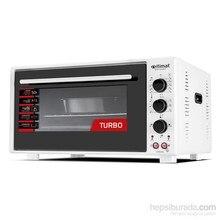 İtimat Timerli Thermostat Oven Turbo Fan Double Glazed White