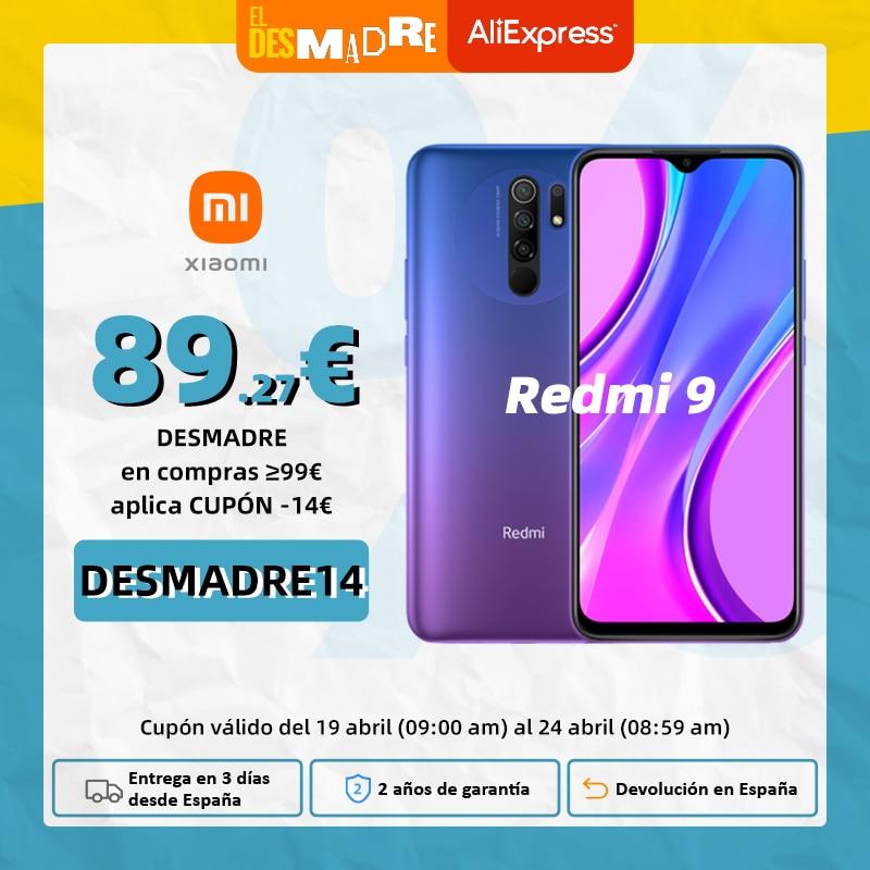 "Global Version Xiaomi Redmi 9 Mobile Phones Helio G80 Octa Core 3GB 32GB 6.53"" FHD+ Screen 13MP AI Quad Cams Smartphone 5020mAh"