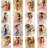 5d diamond painting new arrivals color painting sexy charm abstract woman illustration pattern european style background art