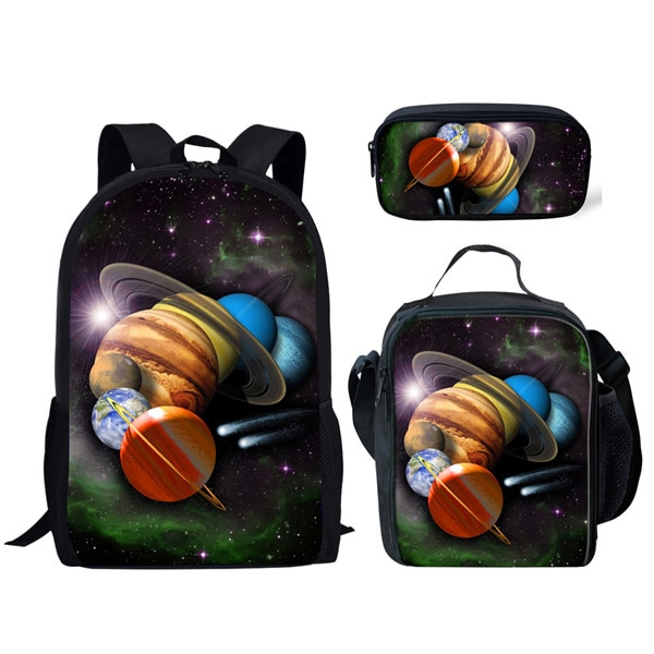 Fashion Children Outer Space Planet Printing School Bags for Teenage Girls Boys Schoolbag Kids Backpack Mochilas