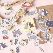 Лидер продаж, милый кот, блокнот для записей, в клетку и с линиями, бумага для заметок, канцелярские принадлежности, тонкие наклейки, блокноты, офисные принадлежности