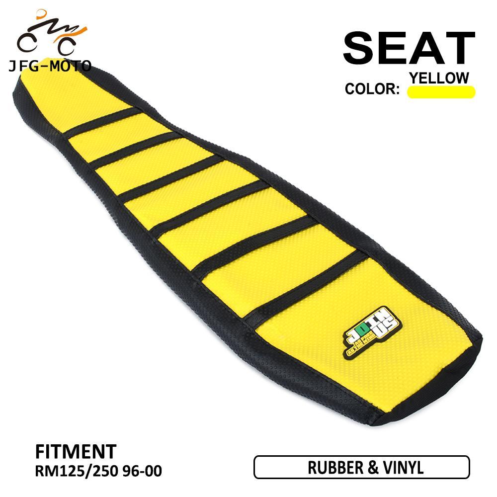 Agarre suave de goma a rayas para motocicleta, cubierta de asiento de piel suave para Suzuki RMZ 250 RMZ250 RMZ-250 2010-2017 Pro Dirt Bike