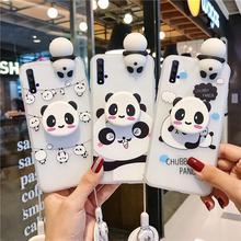 Nette Weiche TPU Fall Für Huawei P Smart Plus 2019 P Smart Z Nova 4 4e 3 3e 3i 2i 2 Lite Fällen 3D Panda Silikon Abdeckung