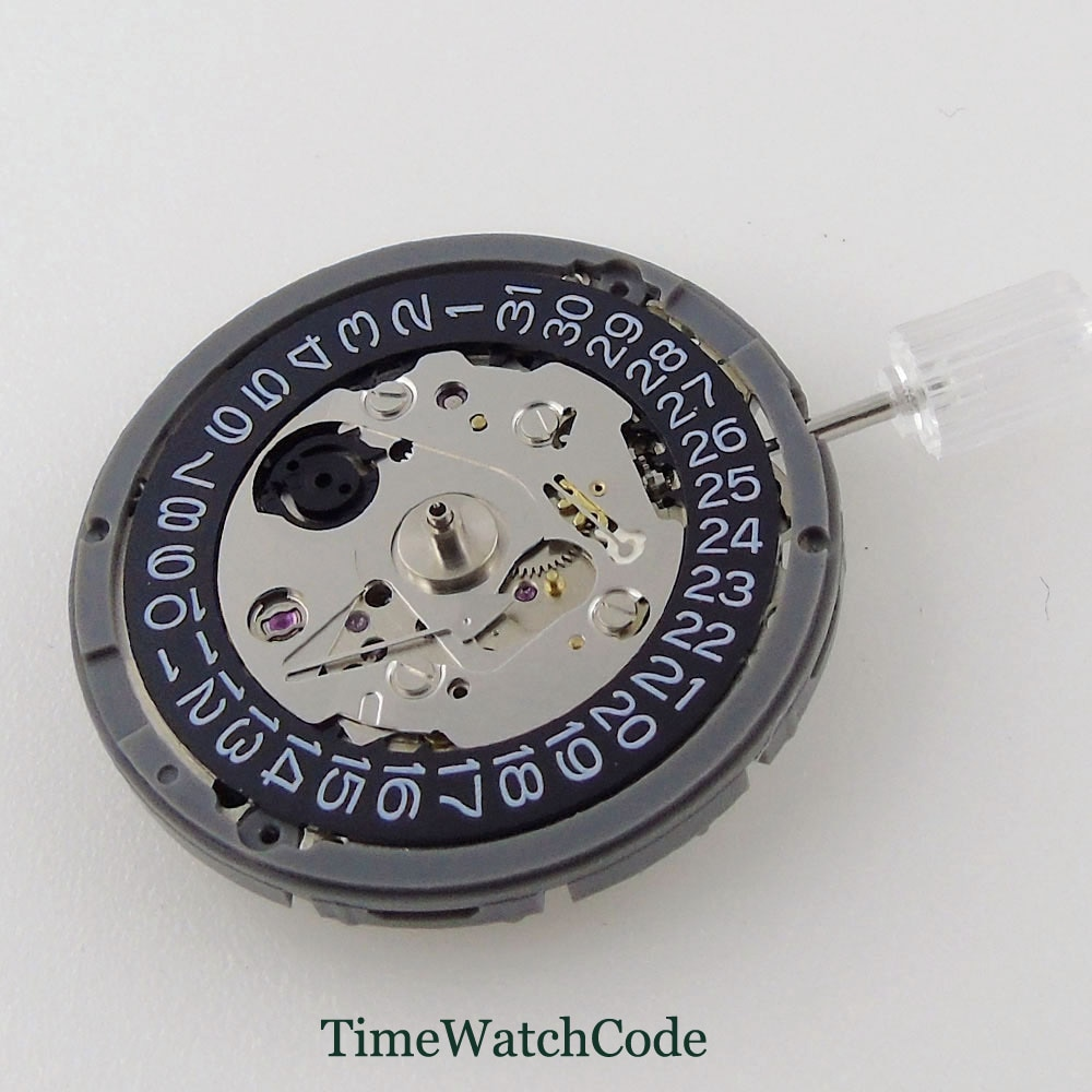 Japan Genuine NH35A NH35 Automatic Movement Date Display 24 Jewels High Accuracy Black / White Hacking Seconds enlarge