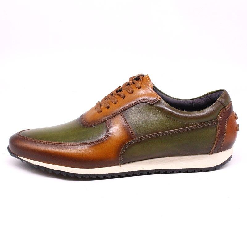 حجم كبير 7 إلى 15 الرجال حذاء كاجوال من الجلد الحقيقي اليدوية الدانتيل يصل أكسفورد أحذية رياضية رجالي تنفس القيادة حذاء مسطح العلامة التجارية ...