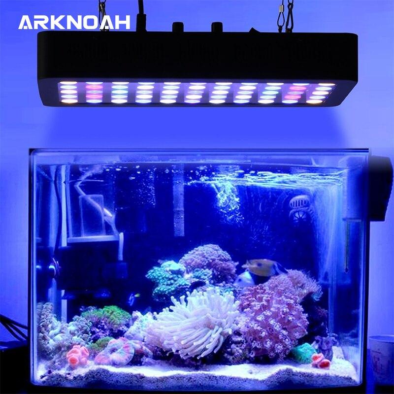 ARKNOAH Dimmable LED acuario luz 165w espectro completo para arrecife de Coral peces de agua dulce y agua salada tanques marinos