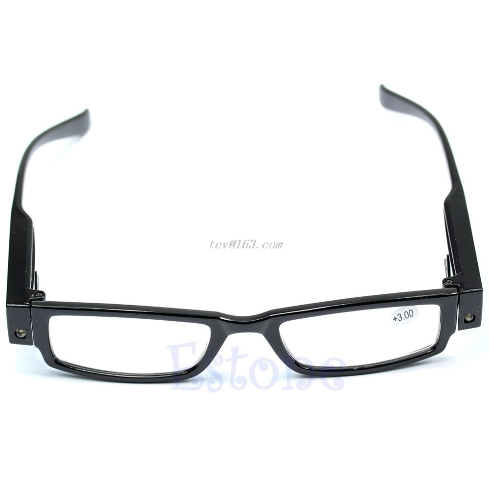 1 pc multi força óculos de leitura óculos óculos diopter lupa led light up presentes natal # j