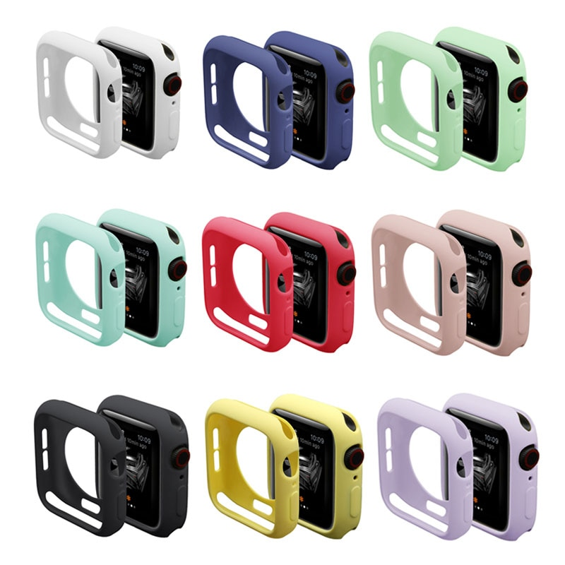 360 slim watch cover for apple watch case 5 4 3 2 1 42mm 38mm soft clear tpu screen protector for iwatch 4 3 44mm 40mm Slim Watch Cover for Apple Watch Case 6 SE 5 4 3 2 1 42MM 38MM Soft Clear TPU Screen Protector Colorful for iWatch 4 3 44MM 40MM