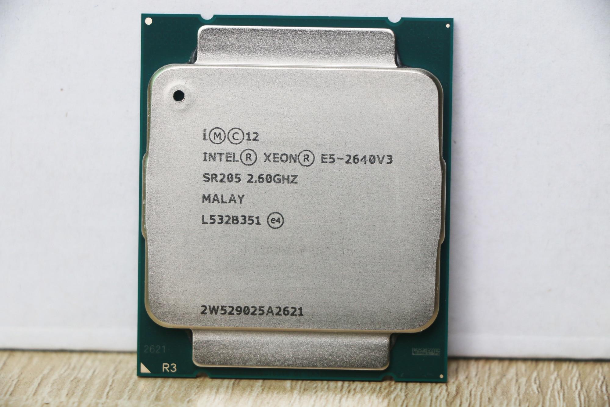 Intel processor Xeon E5 2640 V3 sr205 2.6GHz 8-core 90W socket LGA 2011-3 CPU E5 2640v3 CPU enlarge