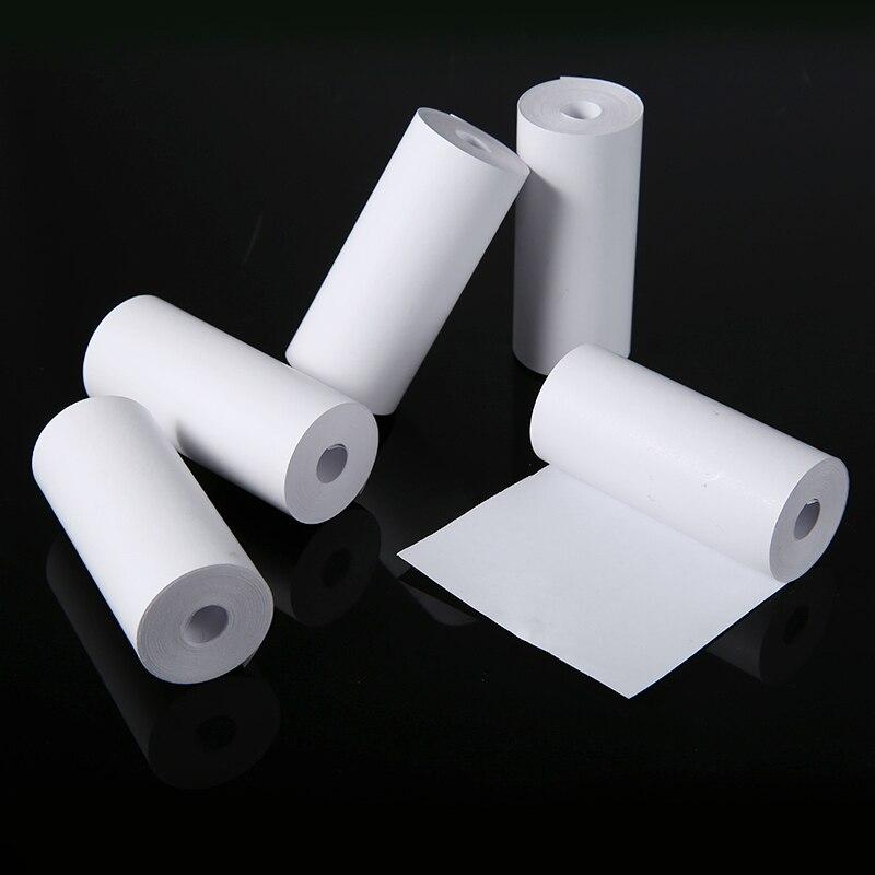 5 рулонов печать Термальность Стикеры Бумага Версия для печати самоклеющаяся этикетка Бумага для принтера Камера Фотобумага Бумага 57 мм x 30 ...