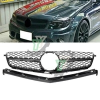 high quality car front bumper grille racing grill for mercedes for benz c class w204 c63 for amg 2008 2009 2010 2011