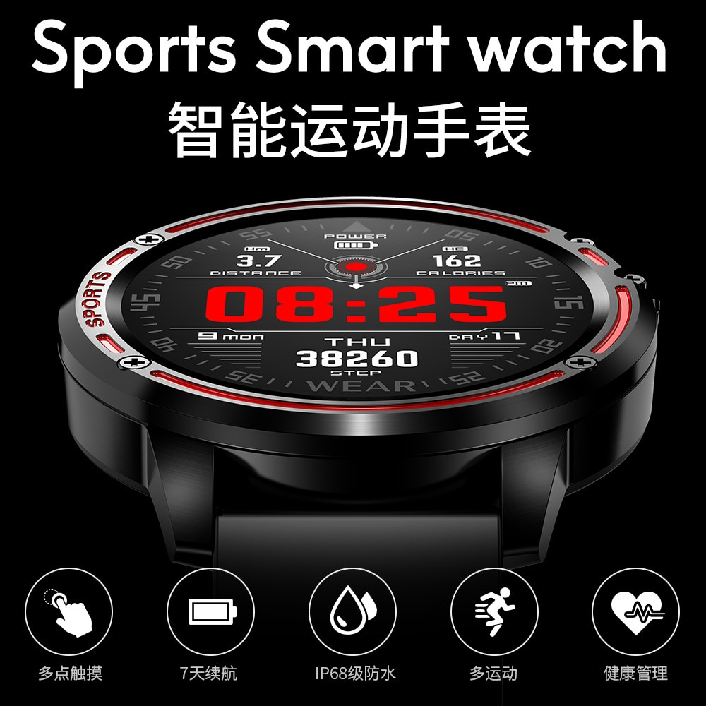 Review [Factory Direct] L8 Smart Bracelet Heart Rate ECG Monitoring Full round Screen Full Touch Payment Offline