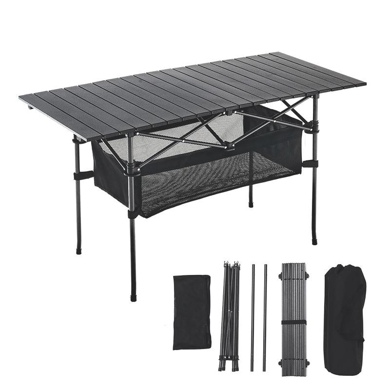 في الهواء الطلق طاولة قابلة للطي كرسي التخييم سبائك الألومنيوم نزهة الجدول مقاوم للماء دائم طاولة قابلة للطي مكتب ل 140*70*70 سنتيمتر