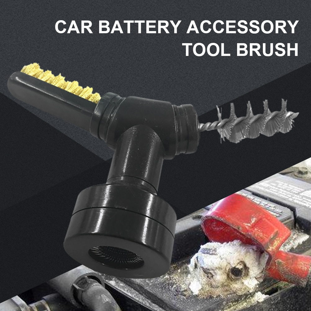 Car Battery Terminal Brush 3 In 1 Dirt Corrosion Cleaner With Caps Battery Brush Tool Battery Protector Auto Cleaning Tool